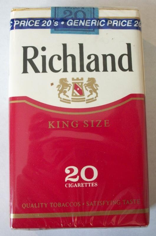 Richland King Size - Vintage American Cigarette Pack