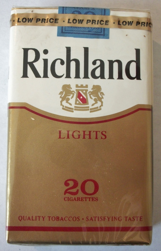 Richland Lights King Size - Vintage American Cigarette Pack