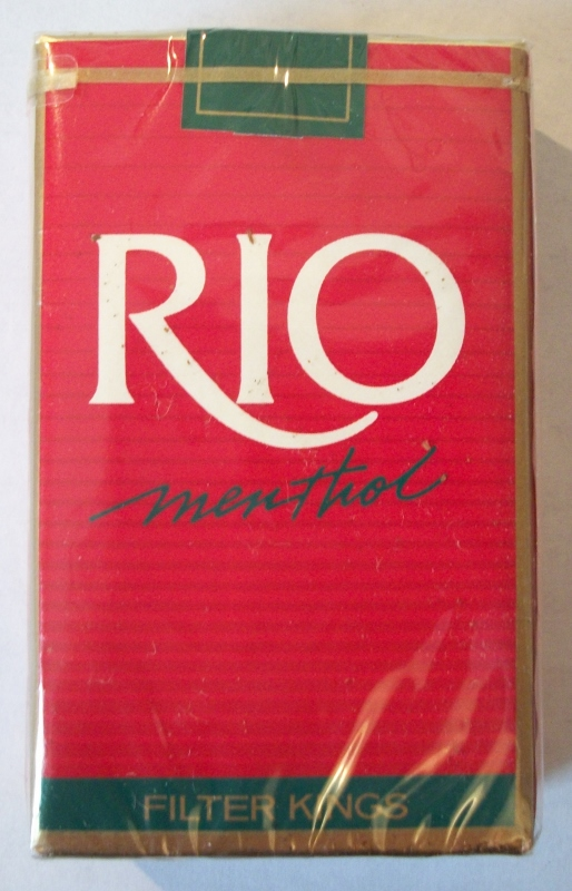 Rio Menthol Filter Kings - Vintage American Cigarette Pack