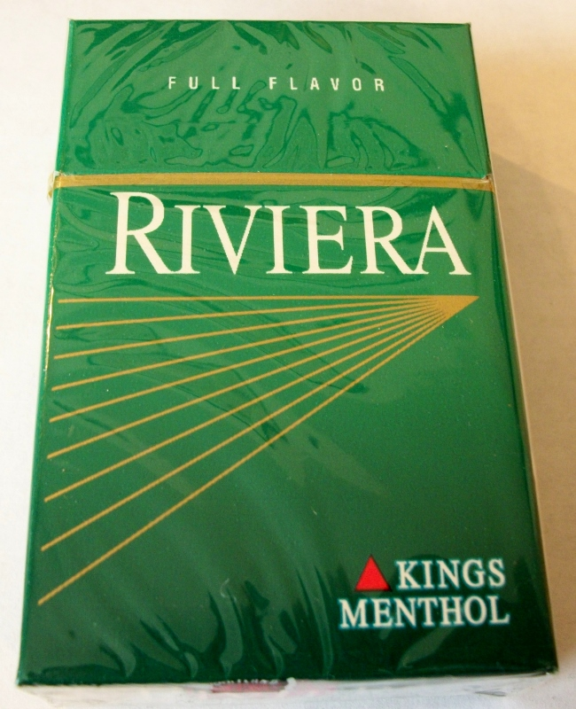 Riviera Full Flavor Kings Menthol Box - Vintage American Cigarette Pack