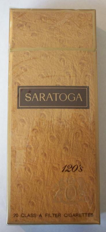Saratoga 120s Filter - Vintage American Cigarette Pack