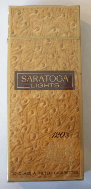 Saratoga Lights 120s Filter - Vintage American Cigarette Pack