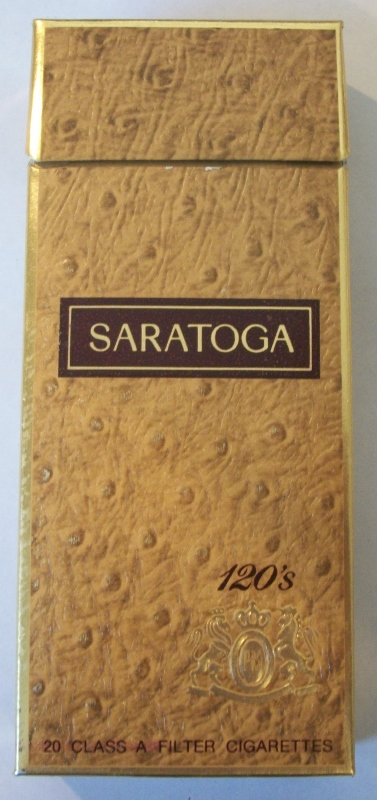 Saratoga 120s Filter (open) - Vintage American Cigarette Pack