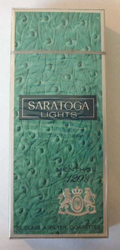 Saratoga Lights 120s Menthol (OH Stamp) - Vintage American Cigarette Pack