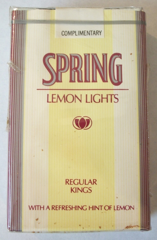 Spring Lemon Lights Regular Kings - Vintage American Cigarette Pack