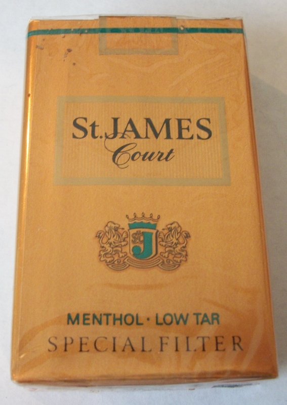St. James Court Menthol Special Filter - Vintage American Cigarette Pack