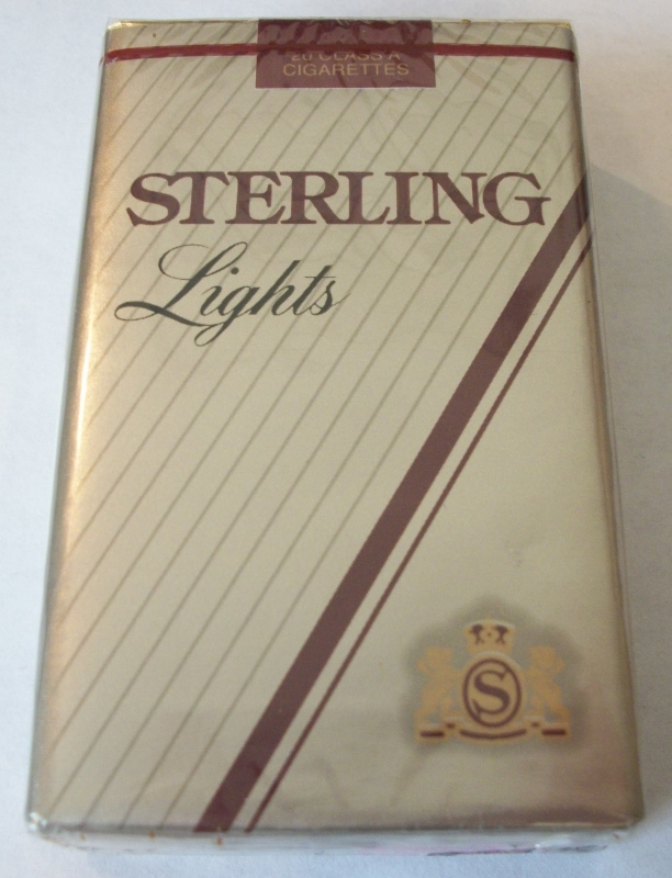 Sterling Lights King Size - Vintage American Cigarette Pack
