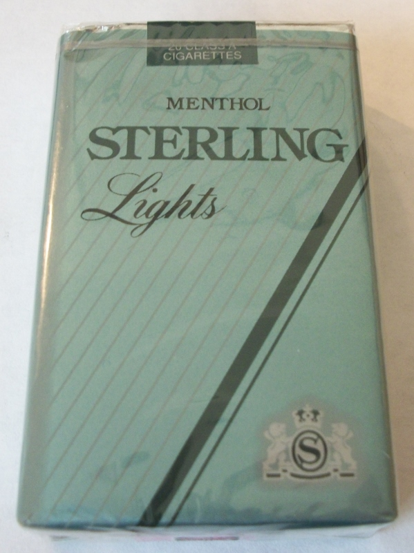 Sterling Lights Menthol King Size - Vintage American Cigarette Pack
