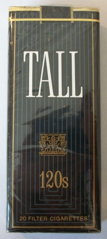 Tall Filter 120s - Vintage American Cigarette Pack