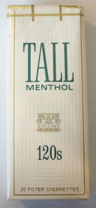 Tall Menthol 120s - Vintage American Cigarette Pack