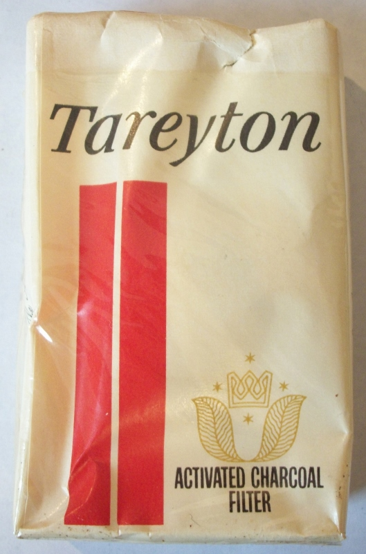 Tareyton Activated Charcoal Filter King Size - Vintage American Cigarette Pack