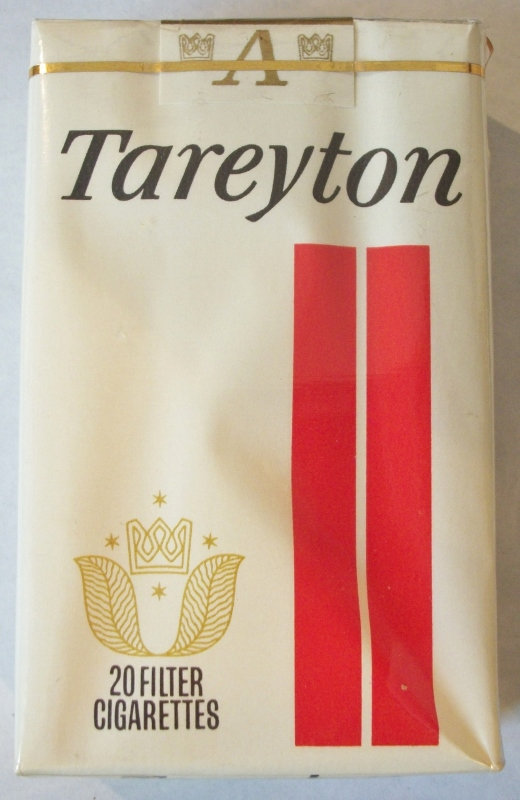 Tareyton Charcoal Filter King Size - Vintage American Cigarette Pack
