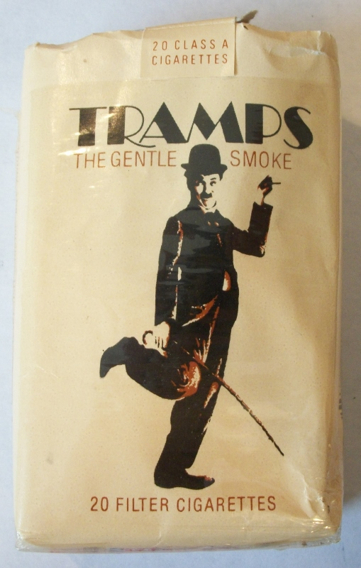 Tramps The Gentle Smoke Filter - Vintage American Cigarette Pack