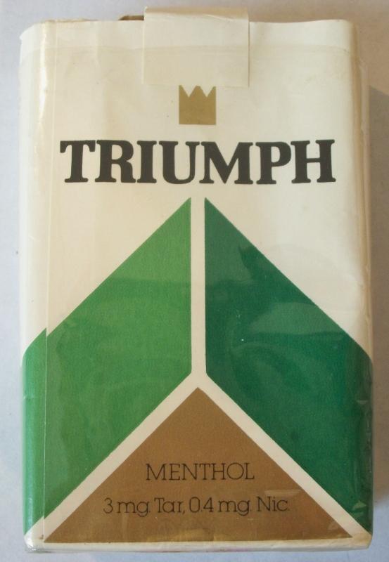 Triumph Menthol King Size - Vintage American Cigarette Pack