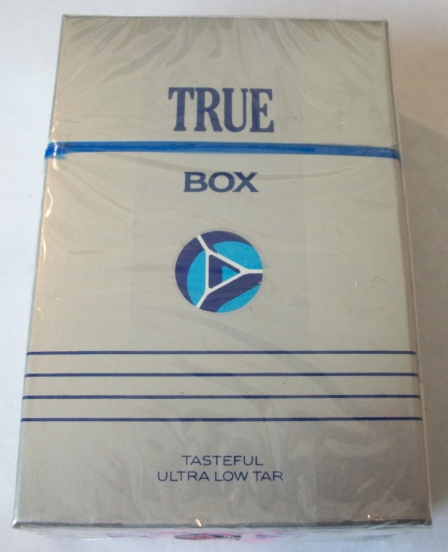 True Box King Size, Ultra Low Tar - Vintage American Cigarette Pack