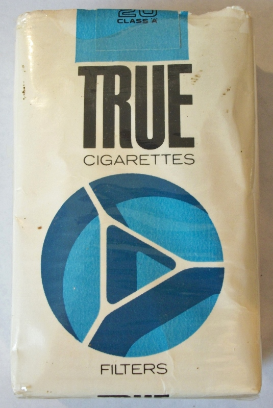 True Filters Kings (open) - Vintage American Cigarette Pack