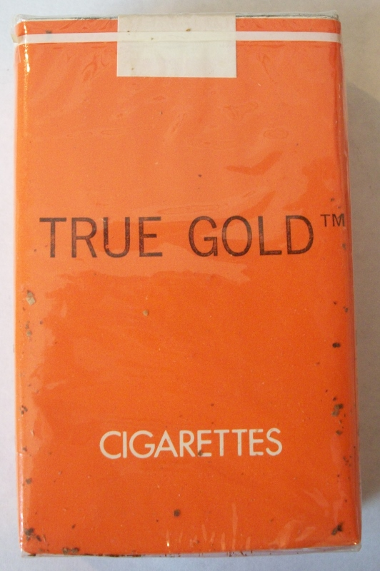 True Gold (Trademark) - Vintage American Cigarette Pack