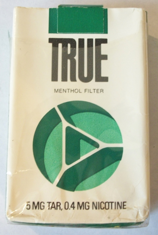 True Menthol Kings (open) - Vintage American Cigarette Pack