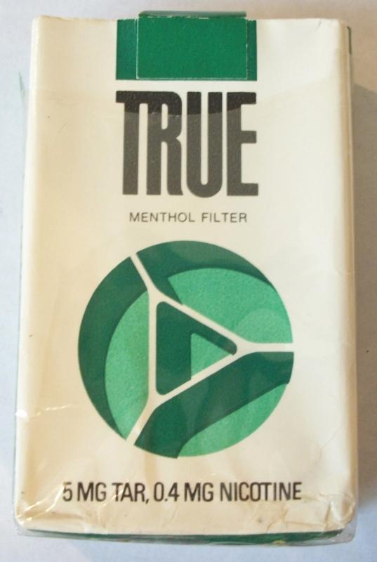 True Menthol Kings (open) - Vintage American Cigarette Pack