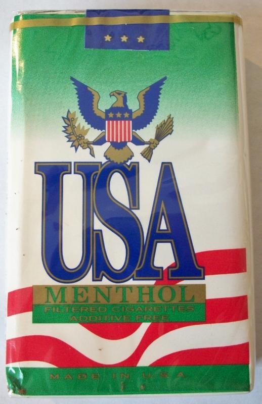 USA Menthol King Size - Vintage American Cigarette Pack