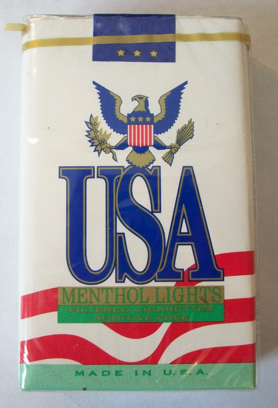 USA Menthol Lights King Size - Vintage American Cigarette Pack