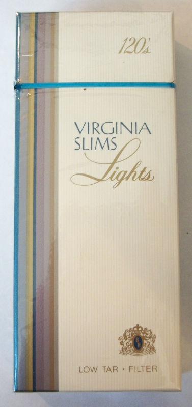 Virginia Slims Lights 120s Filter (Version 1) - Vintage American Cigarette Pack