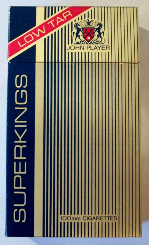 john player superkings low tar  u2013 vintage british cigarette