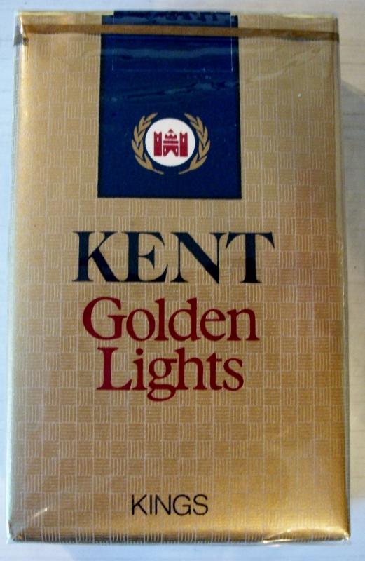 Kent Golden Lights Kings Vintage American Cigarette Pack